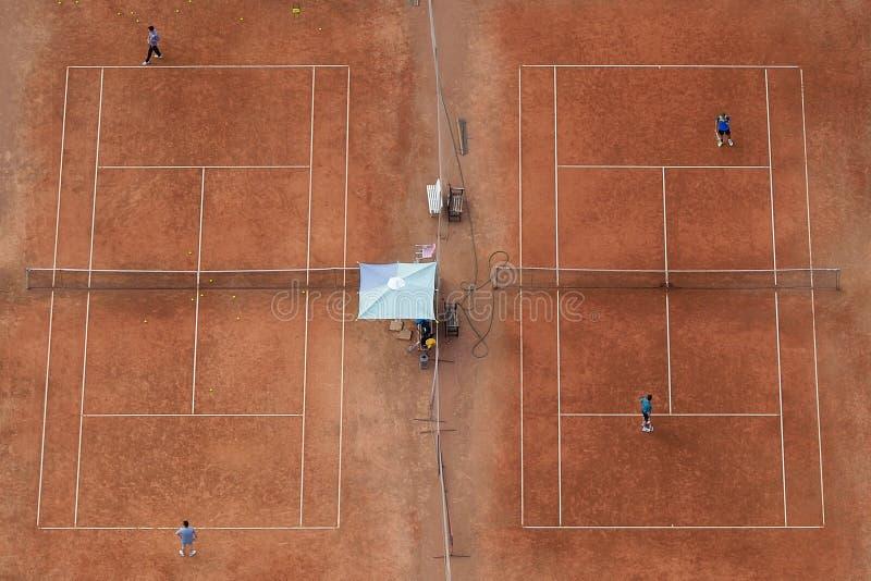 Тренировочное поле тенниса стоковое изображение rf