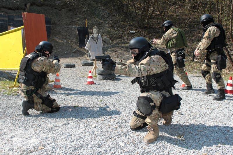 тренировочный набор полиций стоковое изображение