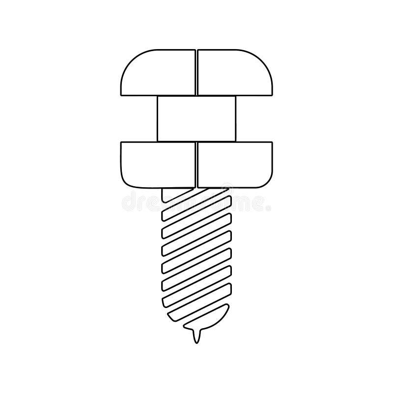 тренога зубоврачебного значка Элемент безопасности кибер для мобильных концепции и значка приложений сети Тонкая линия значок для бесплатная иллюстрация