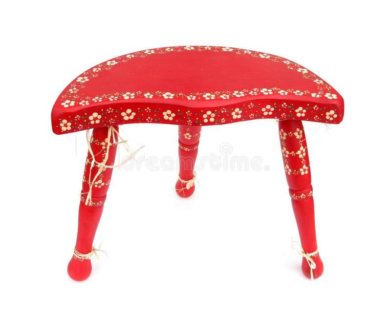 тренога красного цвета ethno стула стоковая фотография rf