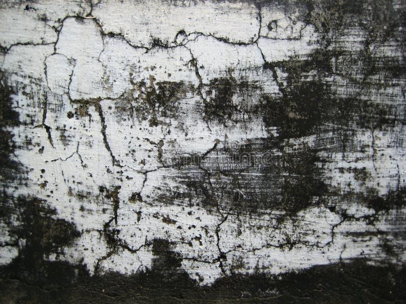 Треснутая белизна покрасила стену подверганный действию к под открытым небом текстуре форм стоковые фотографии rf