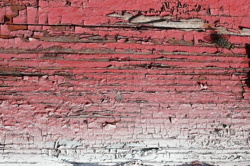 Треснутая краска на старой доске Справочная информация стоковые изображения rf