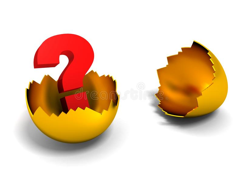 треснутая метка яичка золотистая внутренняя спрашивает красную раковину иллюстрация штока