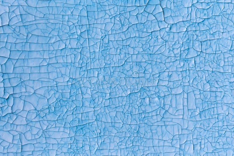 Треснутая поверхность покрасила голубой красный цвет иллюстрация вектора