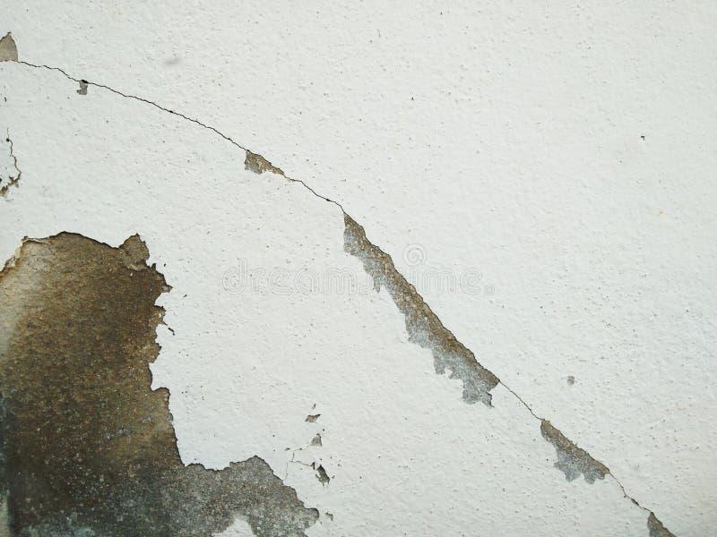 Треснутая предпосылка бетонной стены, стена трещиноватости стоковая фотография