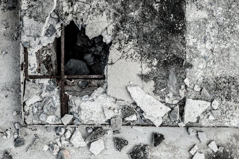Треснутая старым предпосылка текстурированная цементом стоковая фотография