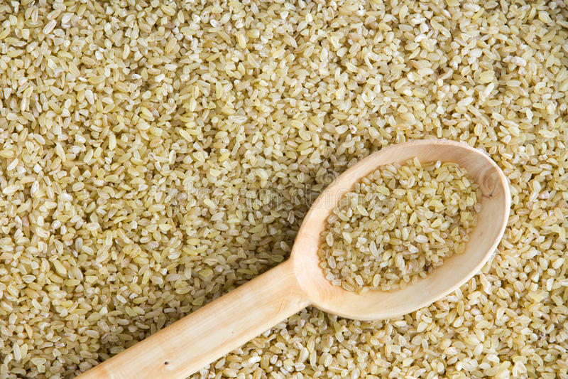 Треснутая текстура предпосылки пшеницы с angled ложкой стоковые изображения