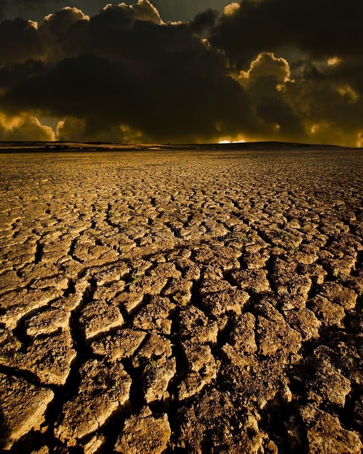 треснутое небо земли стоковое фото rf