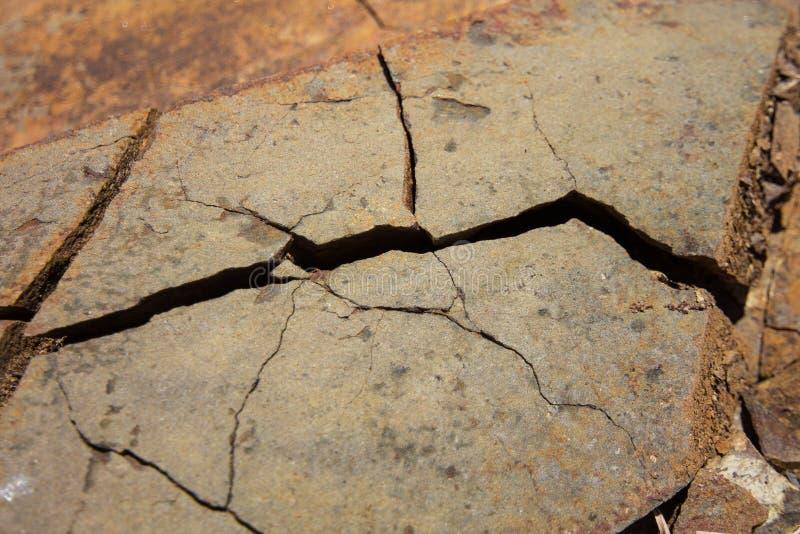 Треснутый каменный крупный план текстуры - отказ утеса стоковое изображение rf