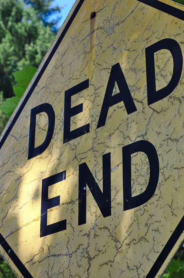 Треснутый мертвый конец стоковые изображения rf