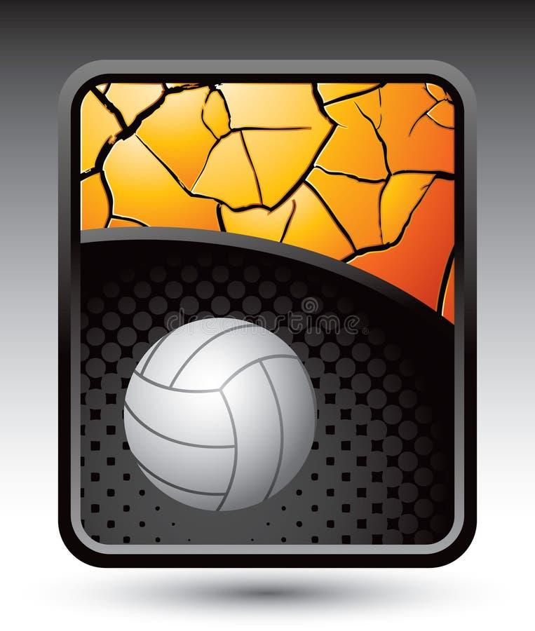 треснутый предпосылкой волейбол золота иллюстрация штока