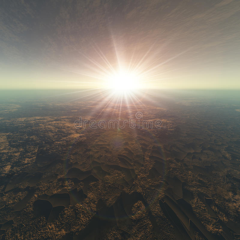 треснутый предпосылкой горизонт земли иллюстрация вектора