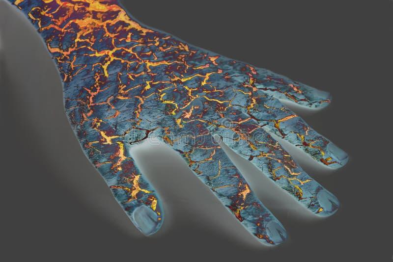 треснутый утюг руки стоковая фотография