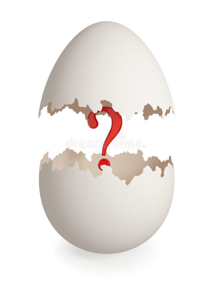 треснутый eggshell внутри красного цвета вопросе о метки бесплатная иллюстрация