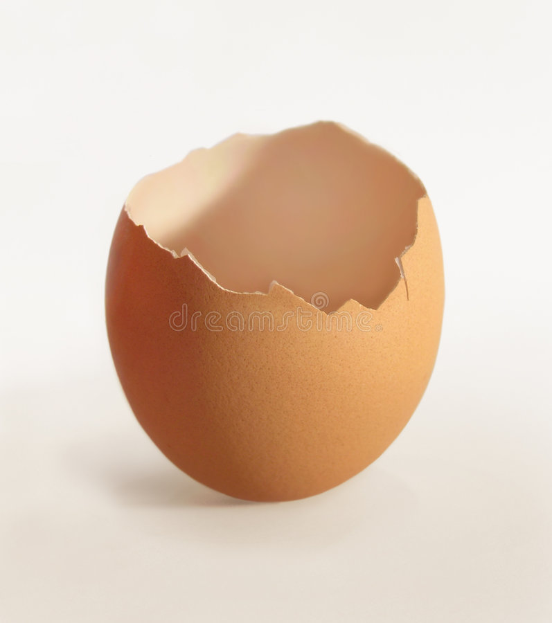 треснутый eggshell стоковые фото