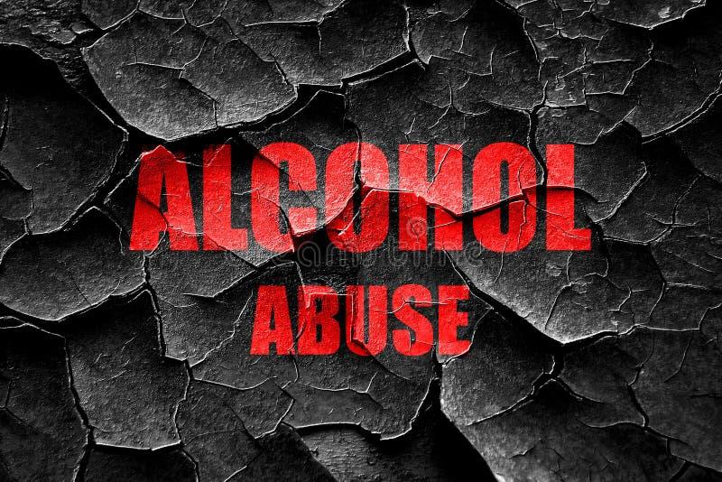 Треснутый Grunge знак злоупотребления алкоголем стоковая фотография rf