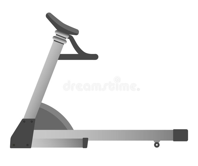 Третбан оборудования фитнеса спортзала бежит значок вектора спортивного клуба машины тренировки тренера иллюстрация вектора