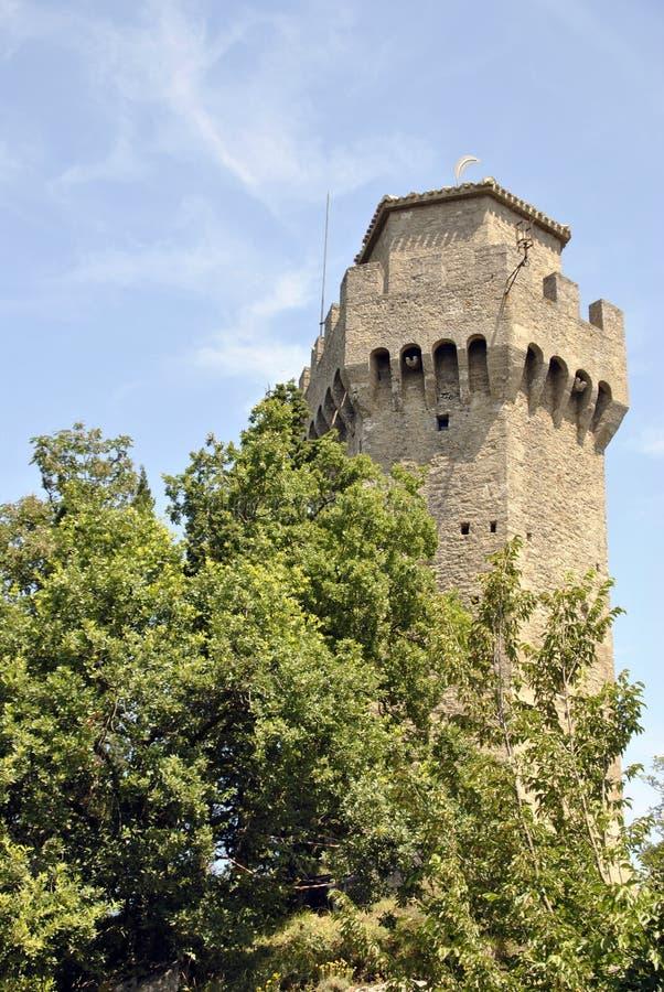 Третья башня Сан-Марино, Montale стоковые фотографии rf