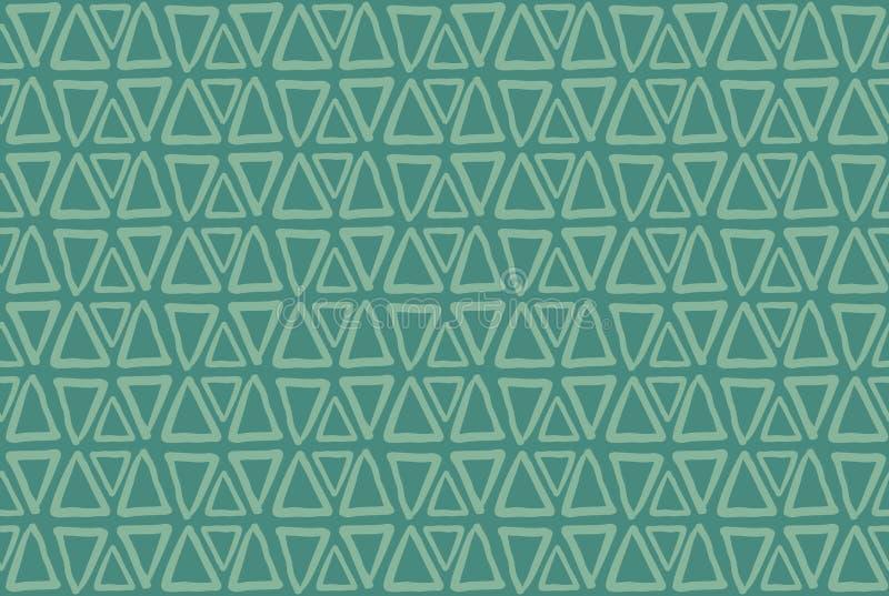 Треугольники на зеленой предпосылке E иллюстрация вектора