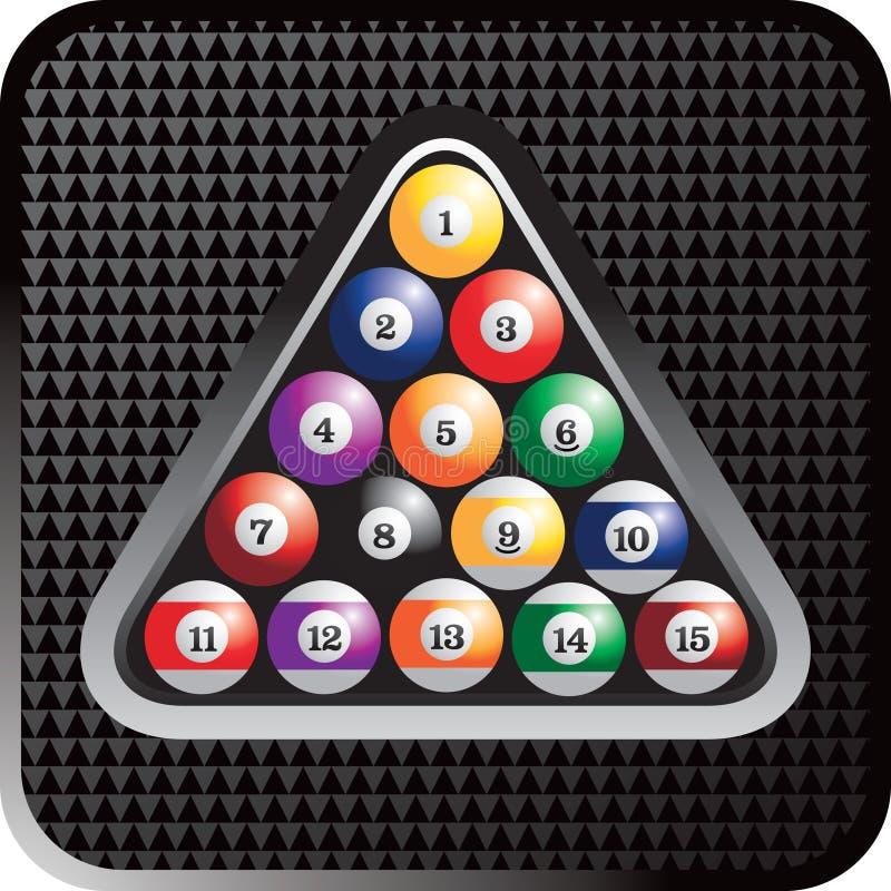 треугольник биллиарда шариков иллюстрация штока