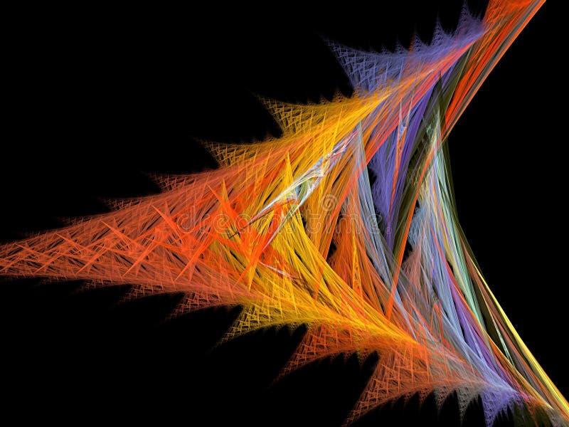 Треугольник и фрактал цветов бесплатная иллюстрация