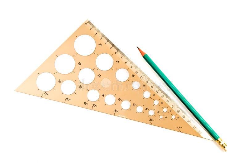 Download треугольник карандаша стоковое фото. изображение насчитывающей аккумулятивной - 6867662