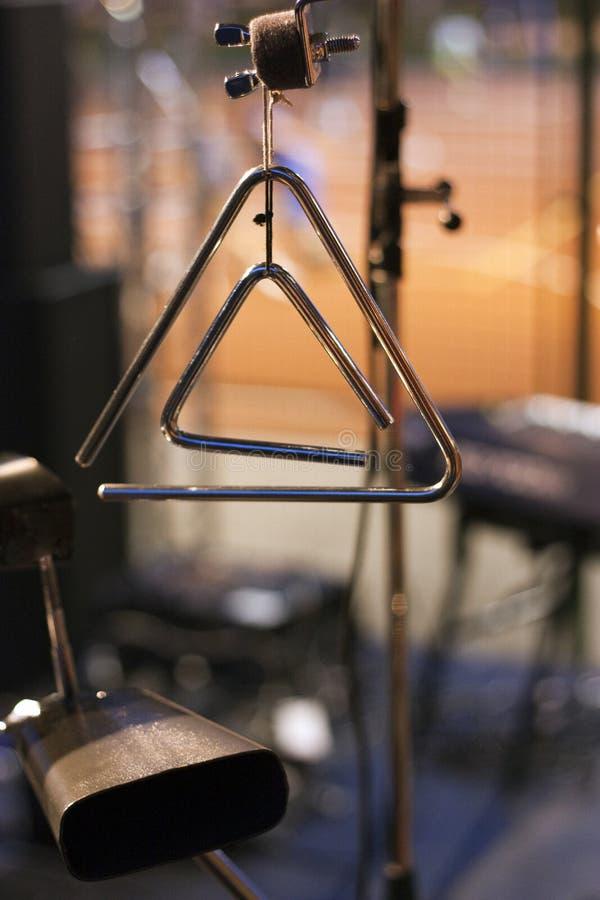 треугольник мюзикл cowbell стоковое фото rf