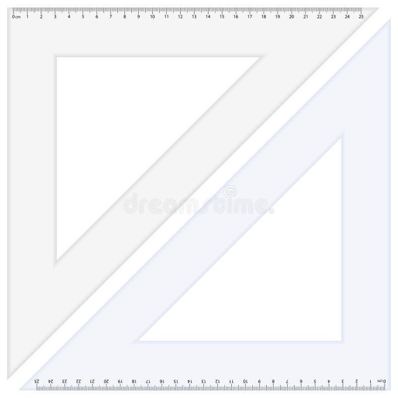 треугольник правителя иллюстрация штока