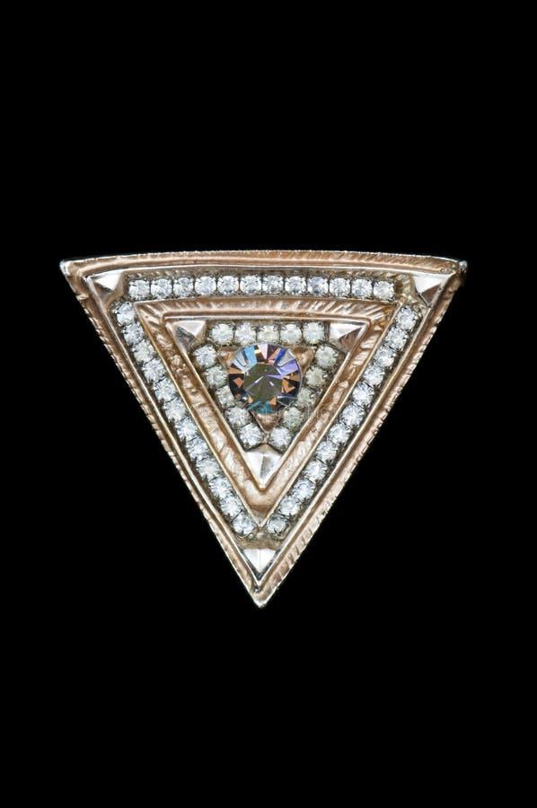 треугольник deco brooch искусства стоковые изображения rf