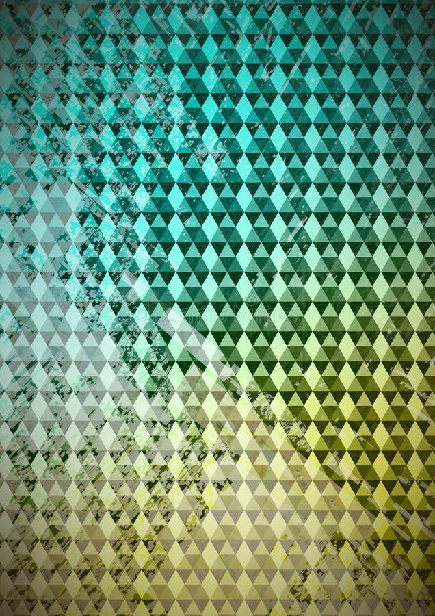 Треугольники на светлой предпосылке градиента и цифровом камуфлировании иллюстрация штока
