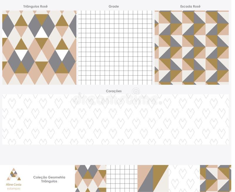 Треугольники подняли стоковые фотографии rf
