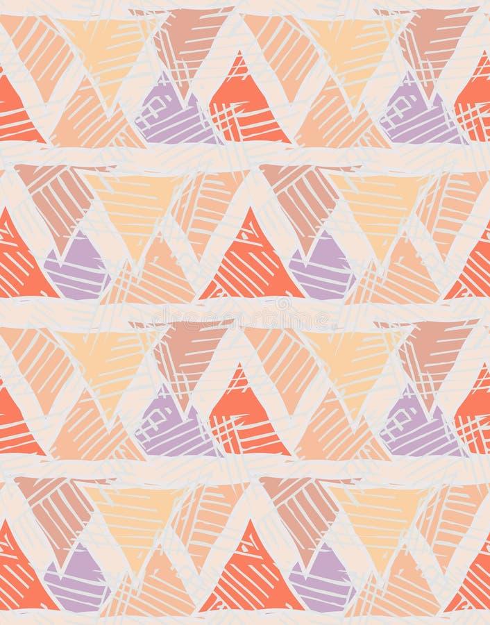 Треугольники striped краснокоричневое иллюстрация вектора