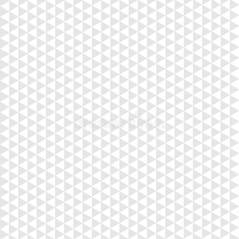 Треугольник безшовной картины серый на белой предпосылке иллюстрация штока
