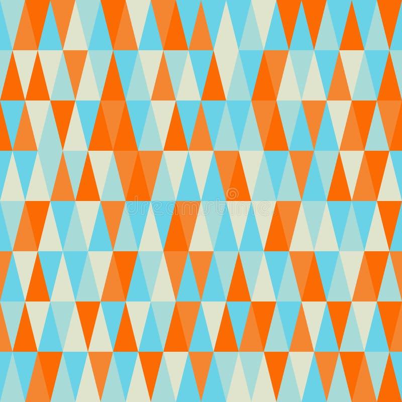 треугольник картины безшовный Геометрическая абстрактная текстура Ба вектора бесплатная иллюстрация