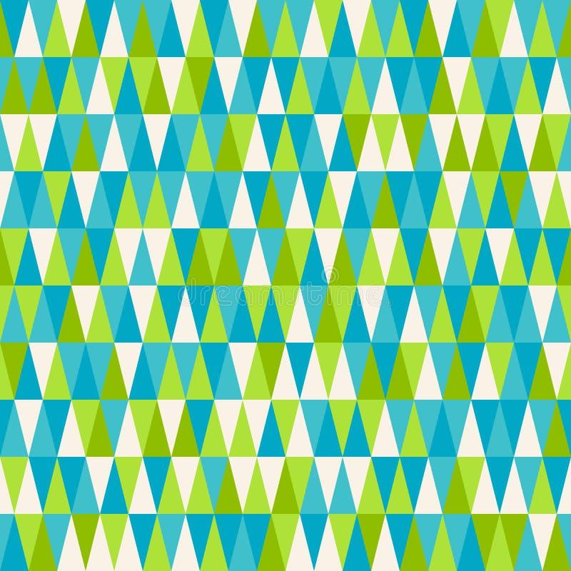 треугольник картины безшовный Геометрическая абстрактная текстура Ба вектора иллюстрация вектора
