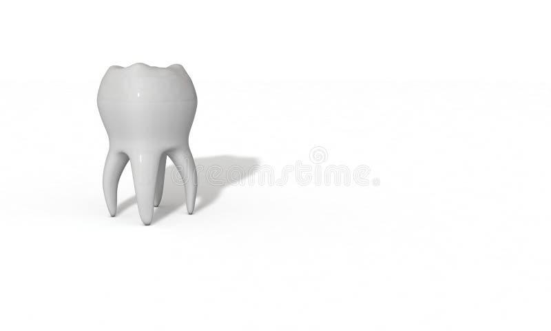 Трехмерная модель зуба сделанная для здоровья иллюстрация штока