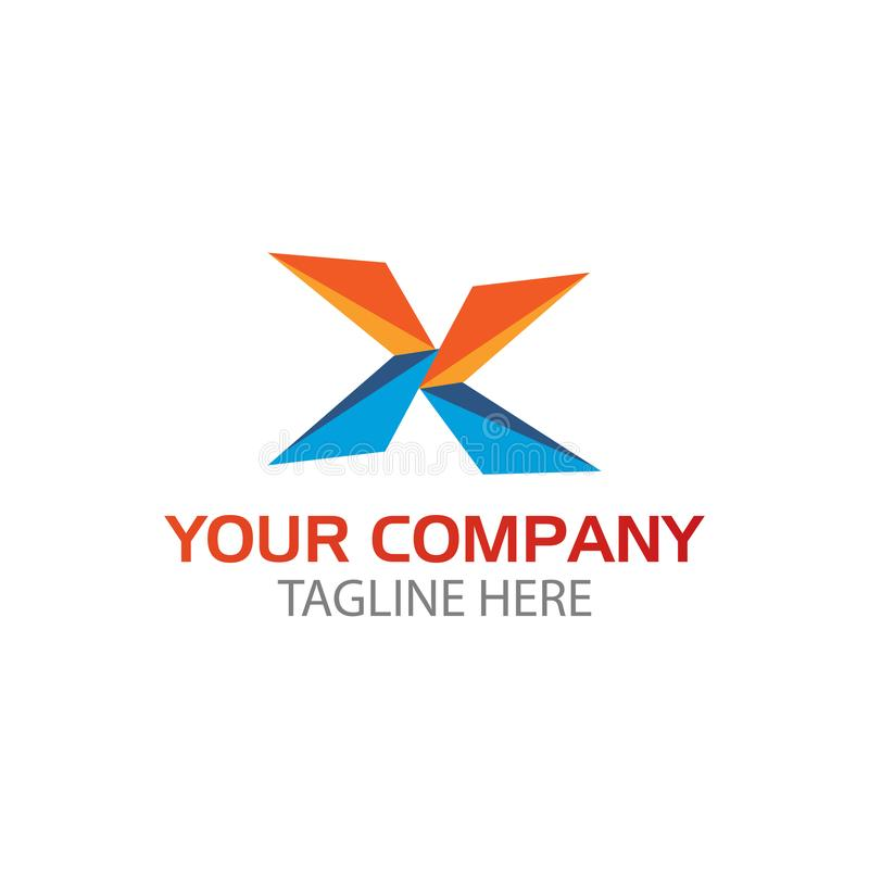 Трехмерное письмо x этот логотип соответствующее для любой компании представленной письмом x Элемент дизайна логотипа бесплатная иллюстрация