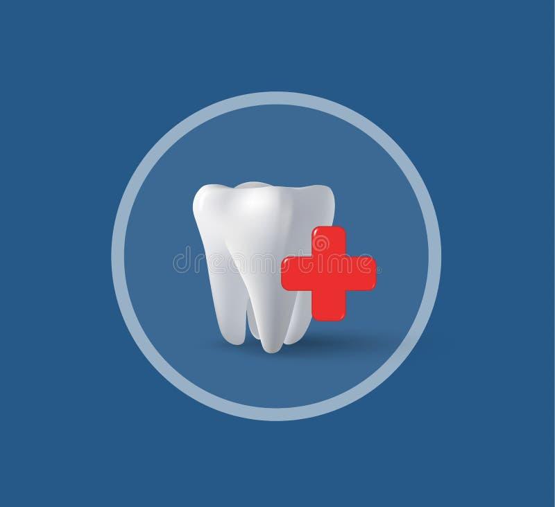Трехмерные зуб и крест стоковое изображение rf