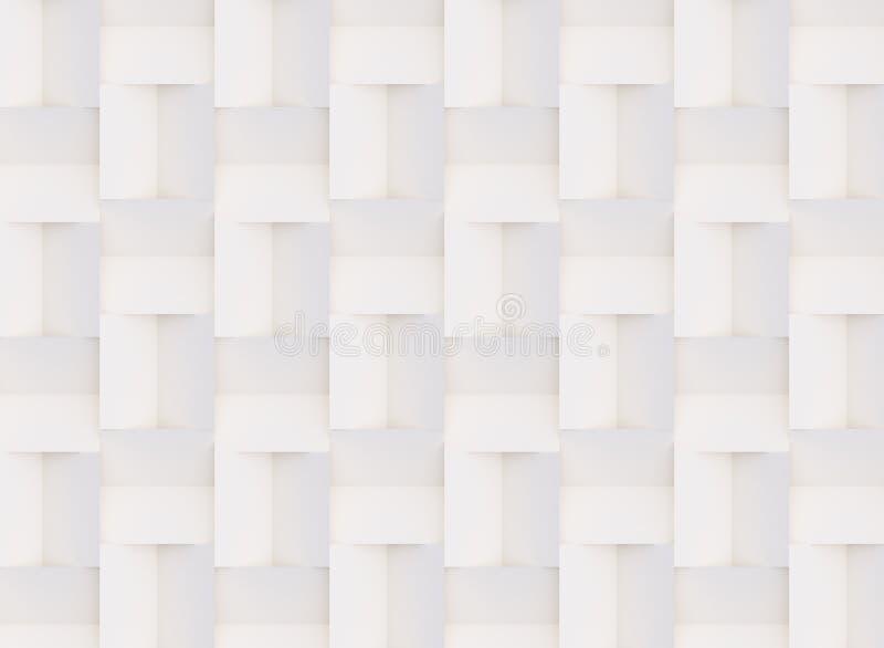 Трехмерный узор, сделанный из белых и бежевых геометрических фигур стоковая фотография rf
