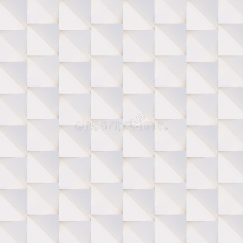 Трехмерный узор, сделанный из белых и бежевых геометрических фигур стоковые изображения rf