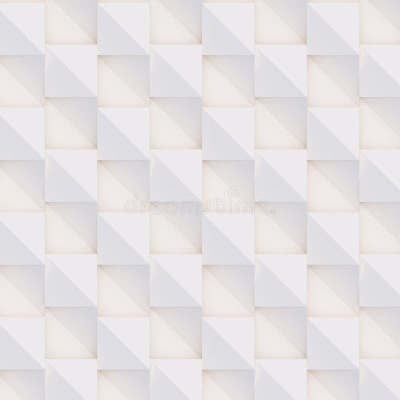 Трехмерный узор, сделанный из белых и бежевых геометрических фигур стоковая фотография