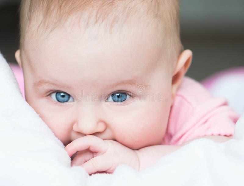 Трехмесячный старый младенец стоковое изображение rf