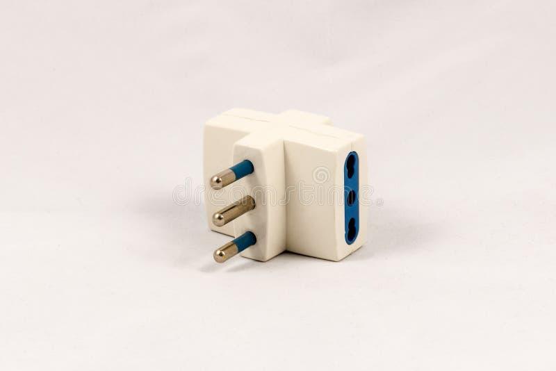 Трехсторонний переходник электрической штепсельной вилки EC стоковая фотография rf