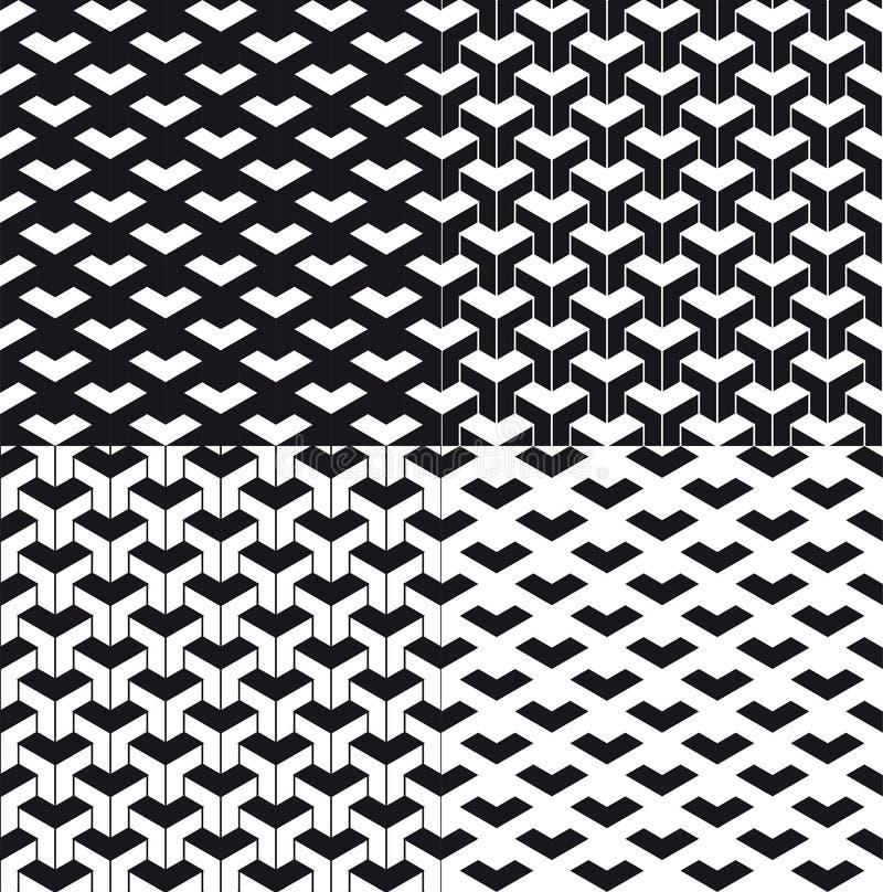 Триангулярная абстрактная предпосылка или безшовный набор картины Предпосылка или картина частицы Черные частицы треугольника на  иллюстрация штока