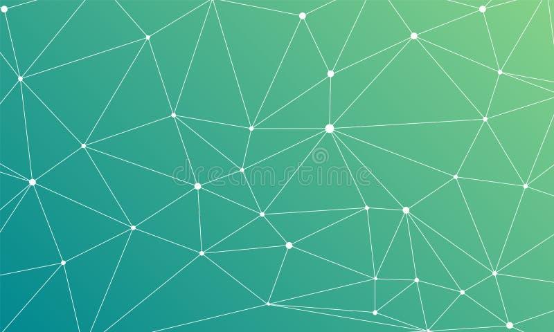 Триангулярная решетка на предпосылке зеленого цвета конспекта голубой бесплатная иллюстрация