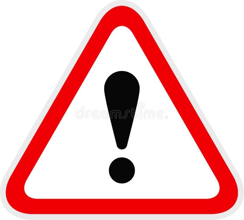 Триангулярный красный предупреждающий символ опасности иллюстрация штока