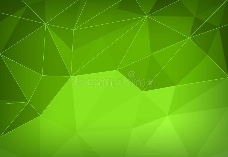 Триангулярная абстрактная зеленая современная предпосылка серия визитной карточки финансовохозяйственная также вектор иллюстрации иллюстрация вектора