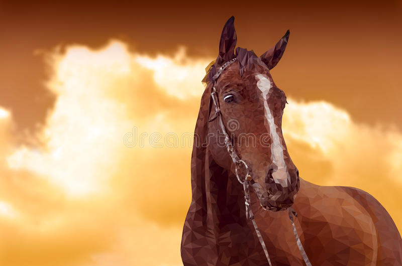 Триангулярная лошадь войны бесплатная иллюстрация