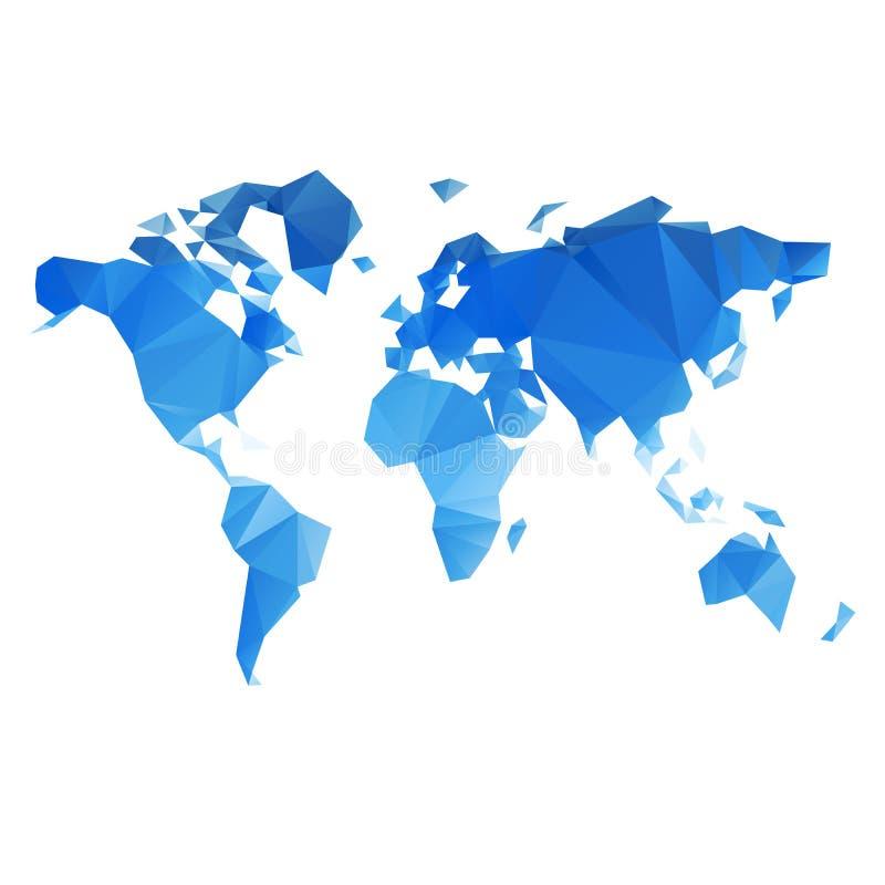 Триангулярный файл вектора карты мира иллюстрация вектора