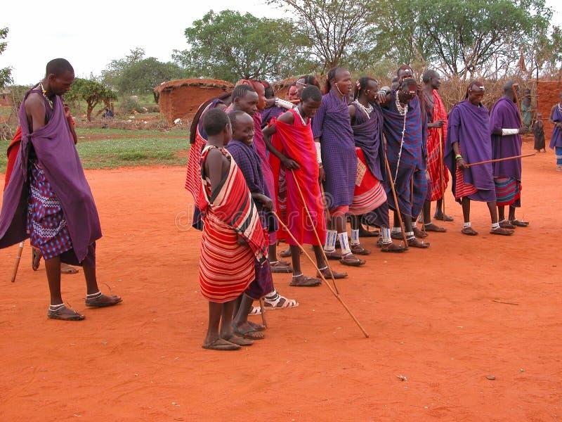 триба masai стоковые изображения